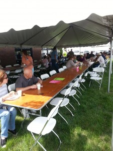 Picnic tables at Member Appreciation Day