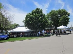 Picnic tents at Member Appreciation Day