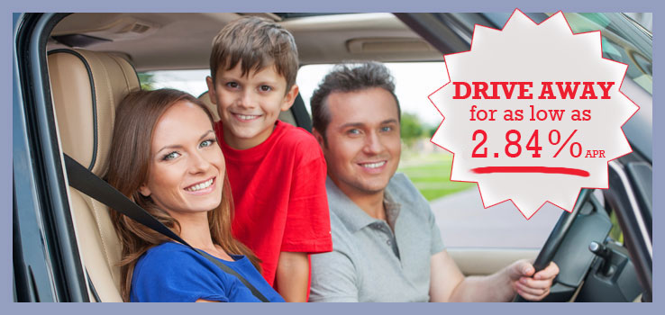 Drive away for as low as 2.84% APR