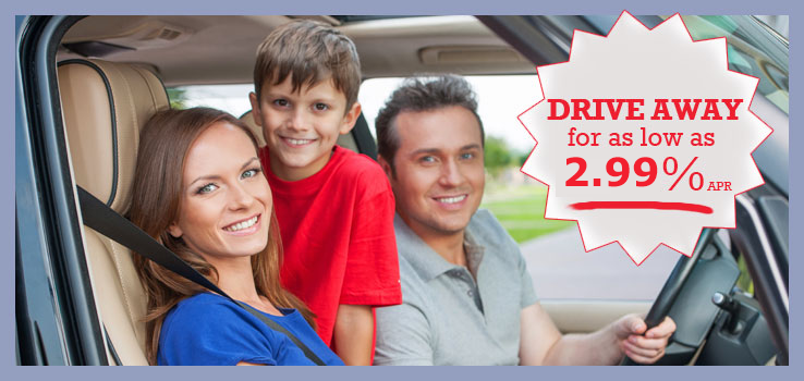 Drive away for as low as 2.99%apr